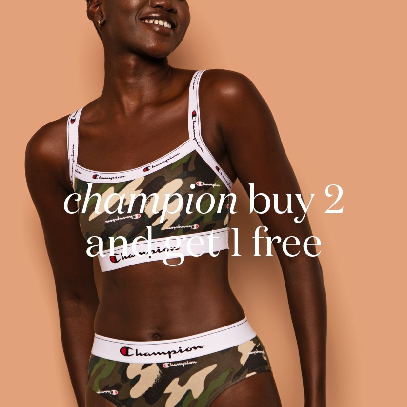 Champion buy 2 get a 3rd free